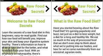 Raw food secrets