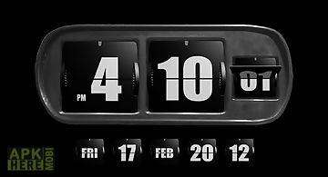 3d flip clock widgets black