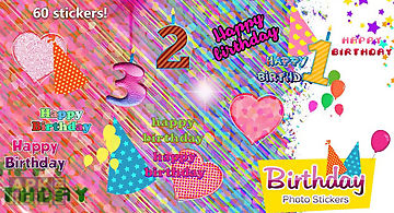 Birthday photo stickers