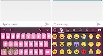 Emoji keyboard - candy pink