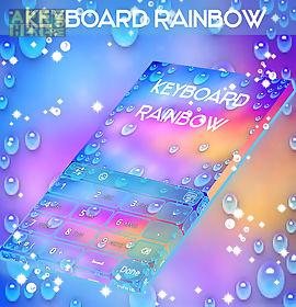rainbow keyboard with emojis