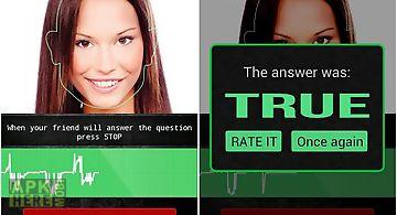 Face lie detector prank