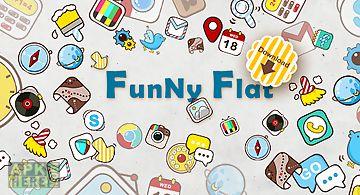 Funny flat go launcher theme