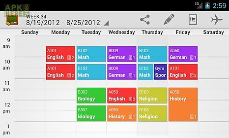 My Class Schedule Timetable For Android Free Download At Apk Here