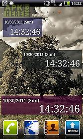 seconds clock widget
