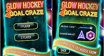 Glow hockey 2 goal craze