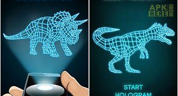 Hologram dinosaur 3d simulator