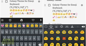 Emoji keyboard skin for galaxy
