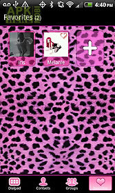 go contacts pink cheetah theme