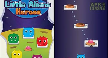 Little aliens: heroes. match-3