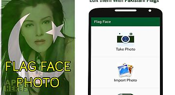 Flag face photo - pakistan