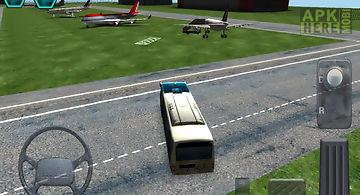 Airport bus simulator parking