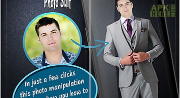 Men fashion photo suit