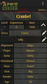 Pathfinder character sheet for Android free download at Apk