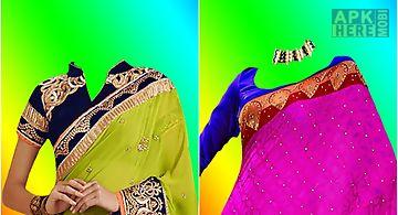 Beautiful saree photo montage