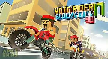 Moto rider 3d: blocky city 17