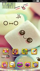 cute marshmallow cartoon theme