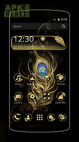 gold feather theme
