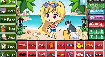 Beach pretty girl