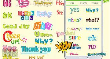 Wordart chat sticker viber