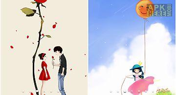 Cartoon girl  Live Wallpaper