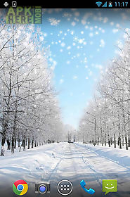winter: snow by orchid live wallpaper