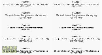 Fonts for flipfont 23