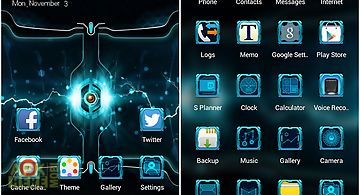 Science android future theme
