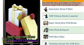 Best geek gift ideas and gadgets..