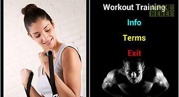 Workout training exercise
