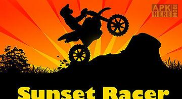 Sunset bike racer: motocross