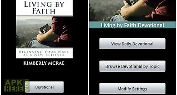 Living by faith devotional