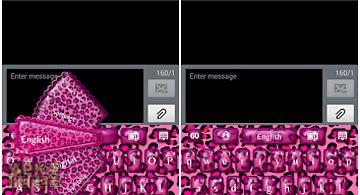 Go keyboard pink cheetah