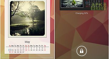 Photo calendar widget free