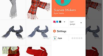 Scarves stickers