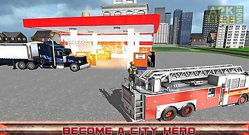 City firefighter truck