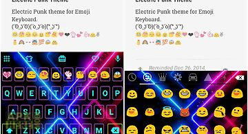 Electric punk emoji keyboard
