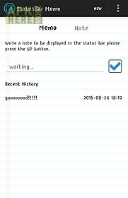 statusbar memo for android free download at apk here store apkhere