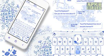 Blue and white porcelain theme