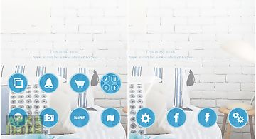 Blue room dodol launcher theme