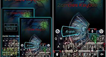 Zombies go keyboard theme