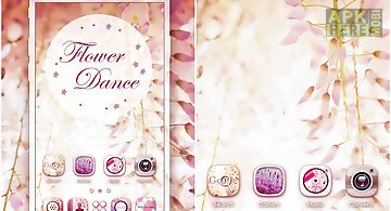 Flower dance go launcher theme