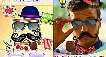 Hipster stickers photo editor
