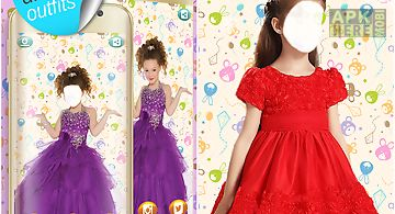 Kids fashion photo montage