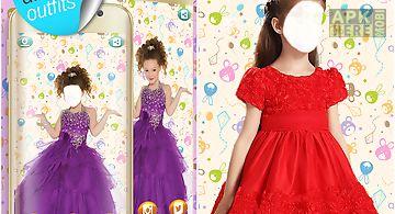 Kids fashion photo montage