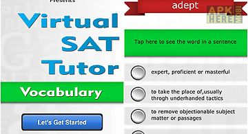 Virtual sat tutor - vocabulary