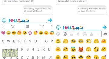 Concise white emoji keyboard