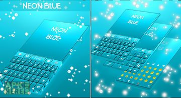 Neon blue keyboard go