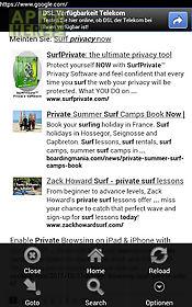 incognito private browser