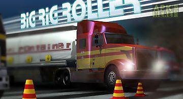 Big rig roller truck parking
